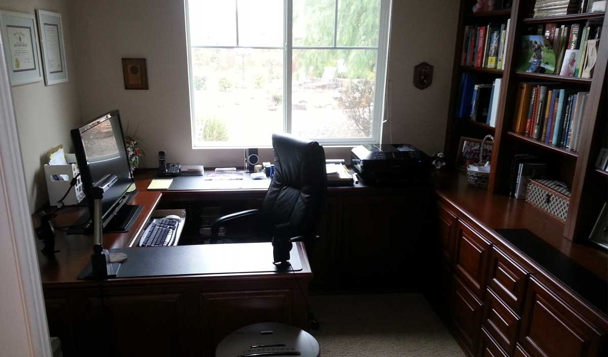 Custom home office cabinets in southern california - Custom office desk ...