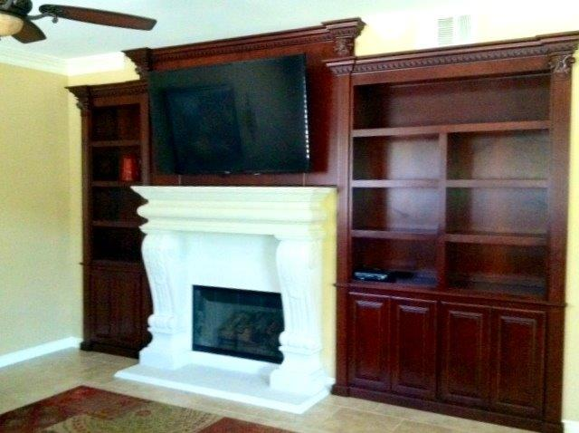 Built in wall unit installed into wall niches