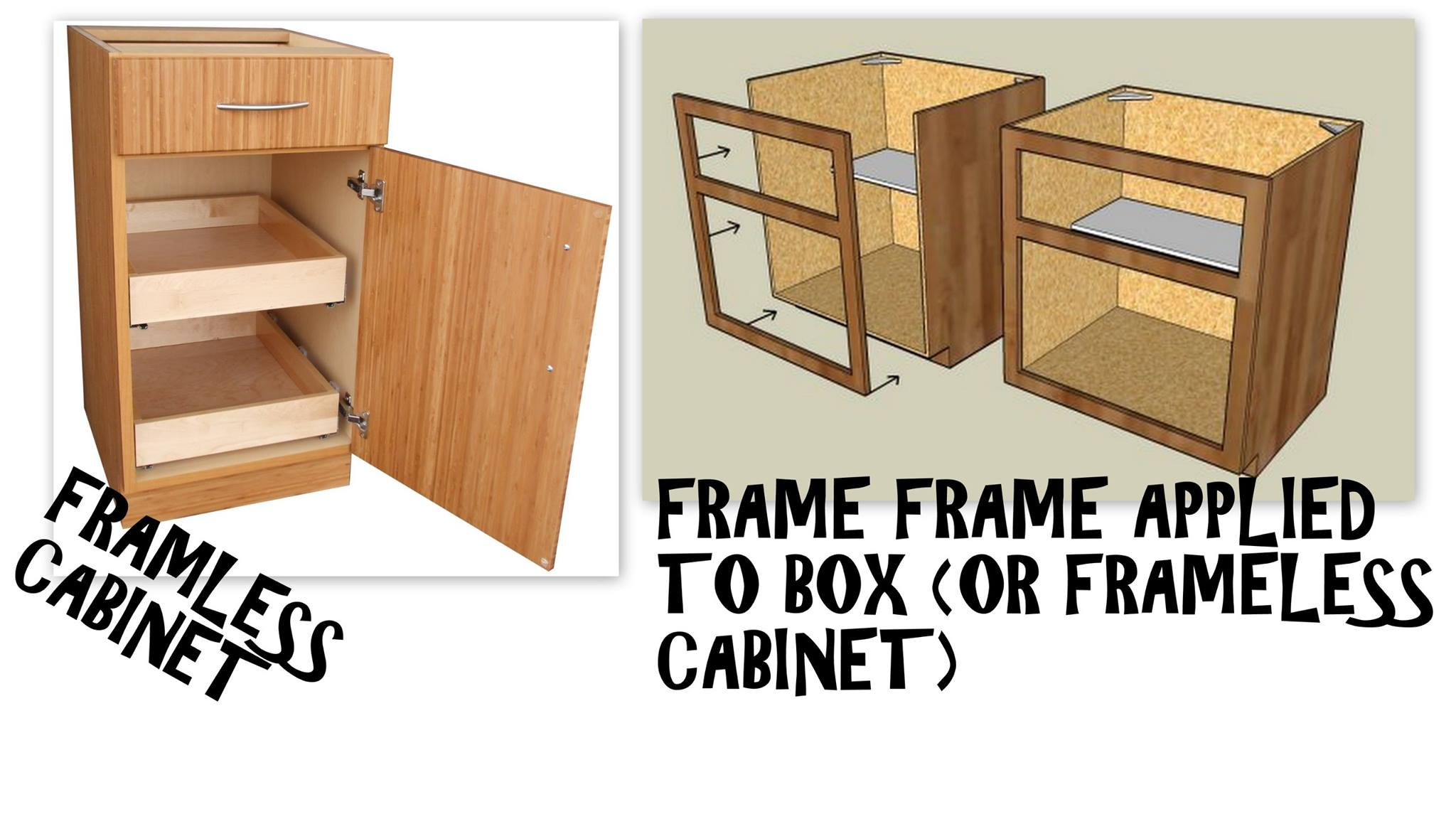 Frameless Vs Faceframe Cabinets What 39 S The Difference