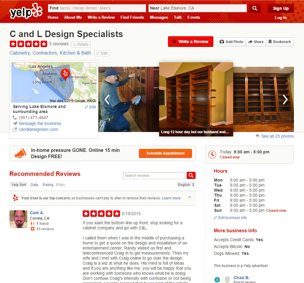 C and L Design Specialists - Cabinetry - Lake Elsinore, CA - Reviews