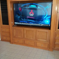 Maple entertainment center cabinets