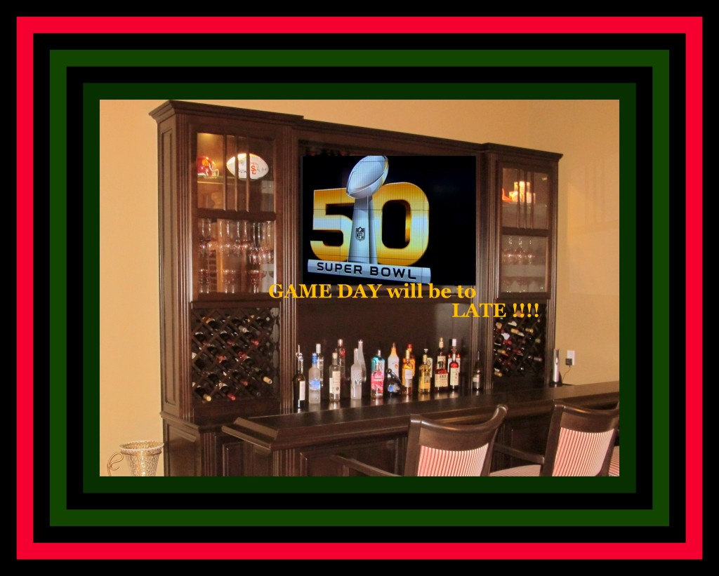 Super bowl custom home entertainment bar friends c for Entertainment bar for home