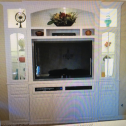 Built in white wall unit cabinets