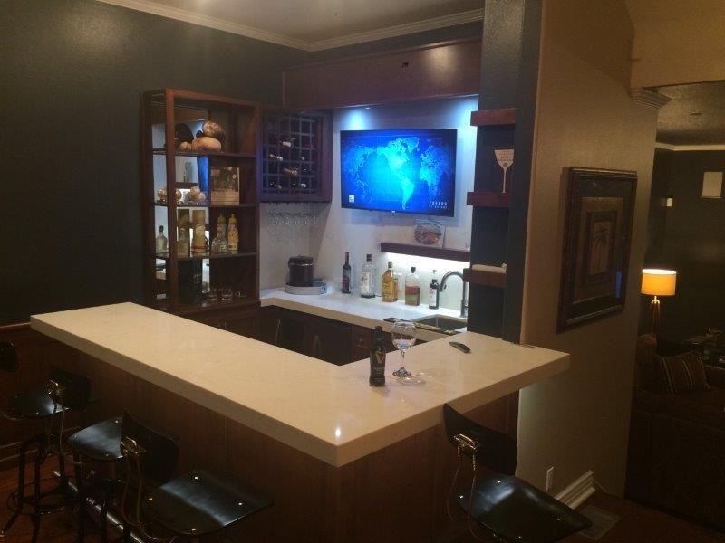 Custom Home Bar in Redlands CA