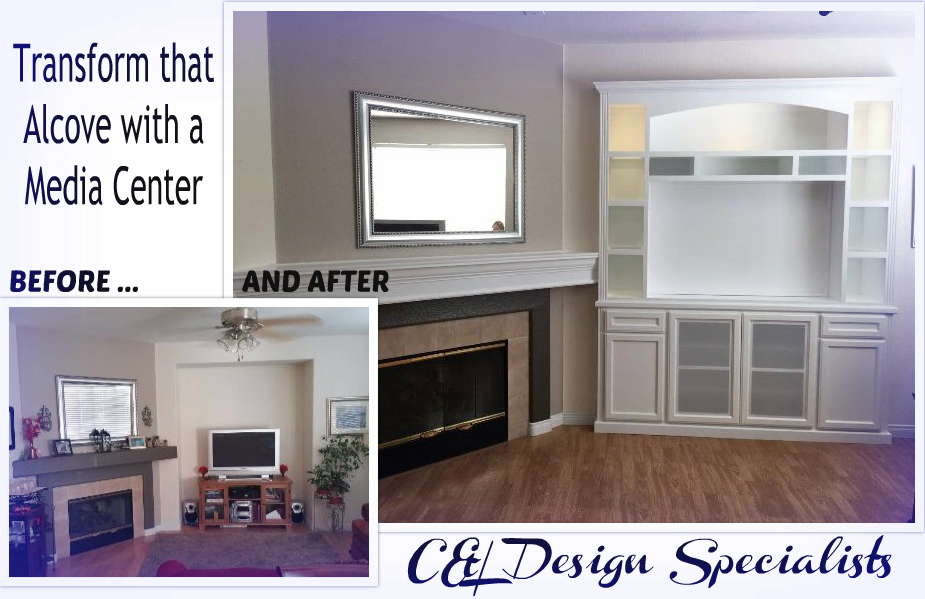 Cabinets for Wall Alcove | C & L Design Specialists Inc