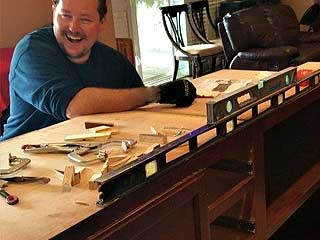 We install custom cabinets