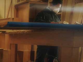 We build custom cabinets
