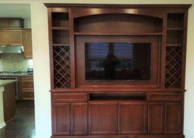 Custom cabinets with wine racks