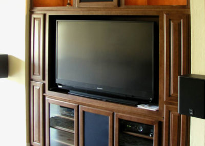 Built in media center cabinet