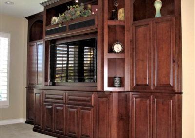 Custom wall unit with plenty of storage