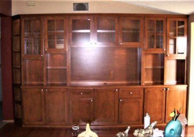 Built in custom cabinets in Ladera Ranch