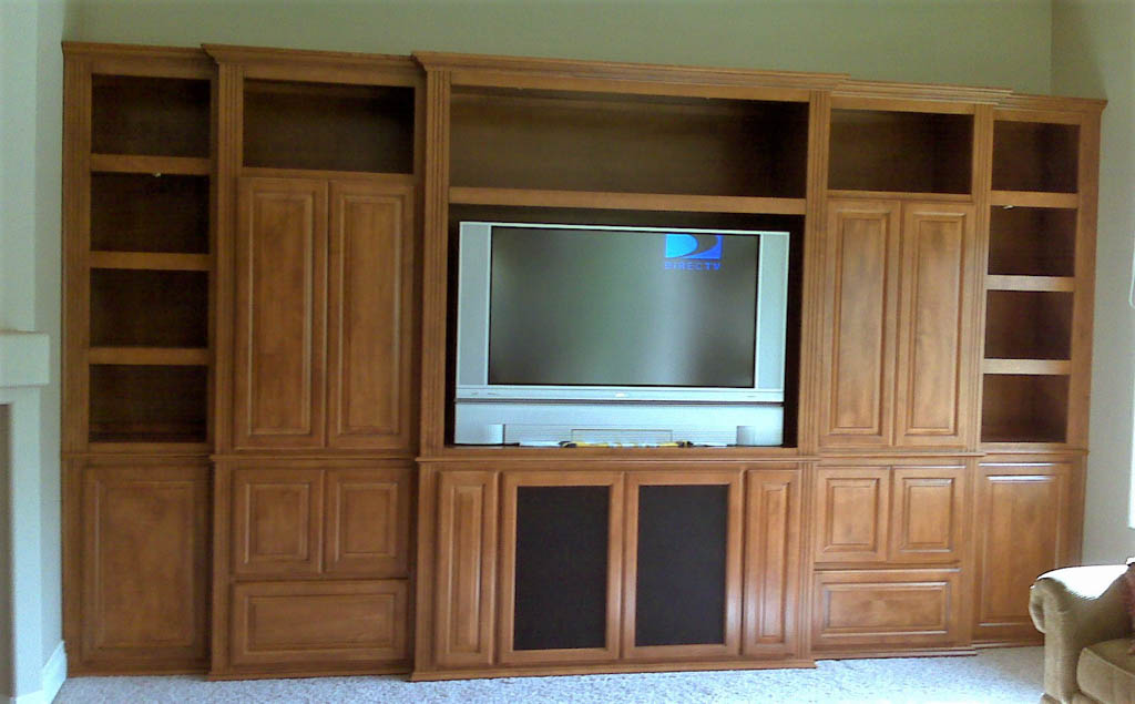 Custom entertainment centers designed built installed c l designs inc - Custom made cabinet ...