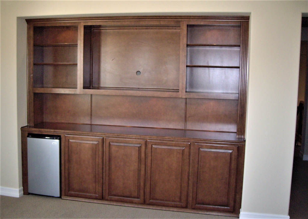 Custom entertainment centers designed built for Custom cabinets
