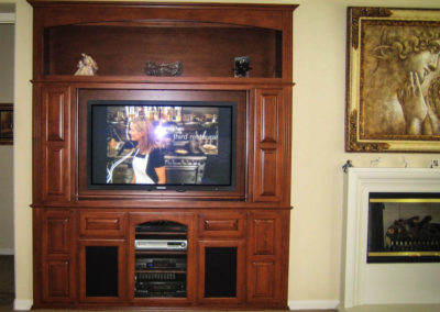 Custom wall unit in Mission Vieo
