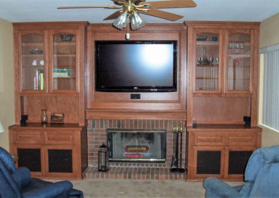Custom wall unit in Orange County