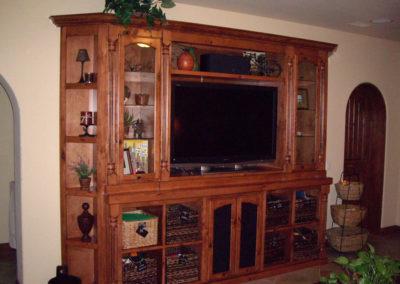 Flat wall custom cabinets