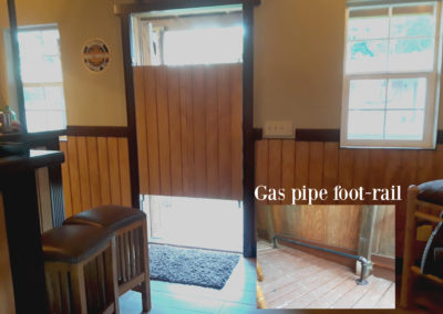 Saloon doors and gas pipe foot-rails