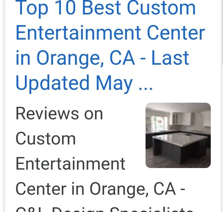 YELP has ranked C&L #1 for entertainment centers in Orange County